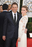 Seth Meyers attended the Golden Globes with his wife, Alexi Ashe.