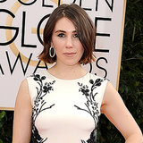 Zosia Mamet Hair and Makeup Golden Globes 2014