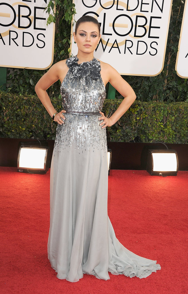 Mila Kunis at the Golden Globes 2014