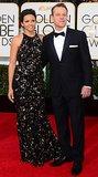 Matt and Luciana Damon looked stunning on the red carpet.
