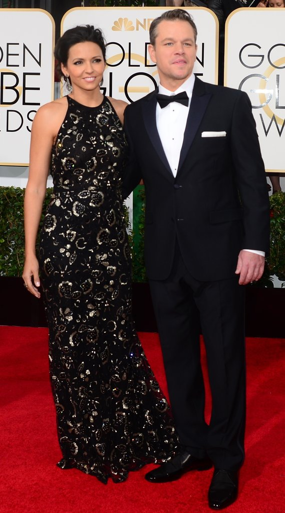 Matt and Luciana Damon looked stunning on the red carpet.