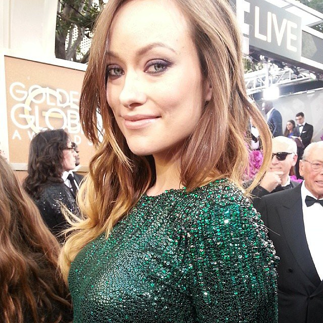 Olivia Wilde stunned on the red carpet. Source: Instagram user goldenglobes