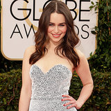 Emilia Clarke's Dress on Golden Globes 2014 Red Carpet