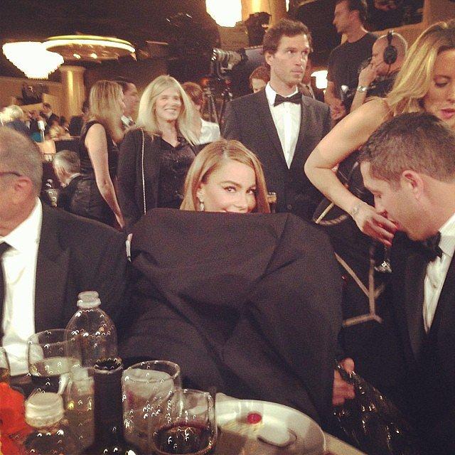 Sofia Vergara's dress was full of secrets. Source: Instagram user jessetyler