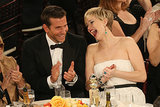 Jennifer Lawrence cracked up alongside Bradley Cooper. 
