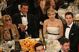 The American Hustle table was full of stars.  Source: Christopher Polk/NBC/NBCU Photo Bank/NBC