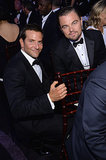 Bradley Cooper got down on Leonardo DiCaprio's level.  Source: Larry Busacca/NBC/NBCU Photo Bank/NBC