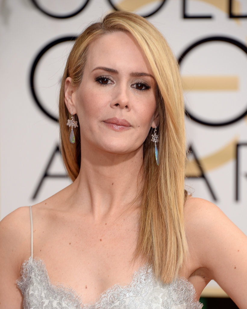Sarah Paulson joined the sea of straight strands.