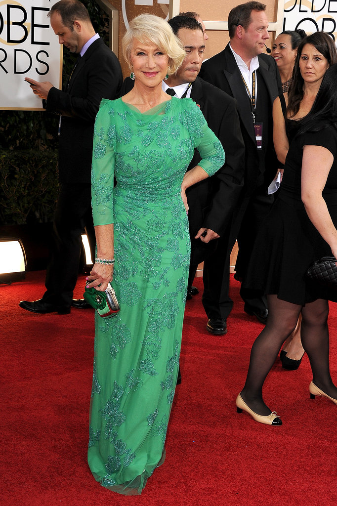 Helen Mirren at the Golden Globes 2014