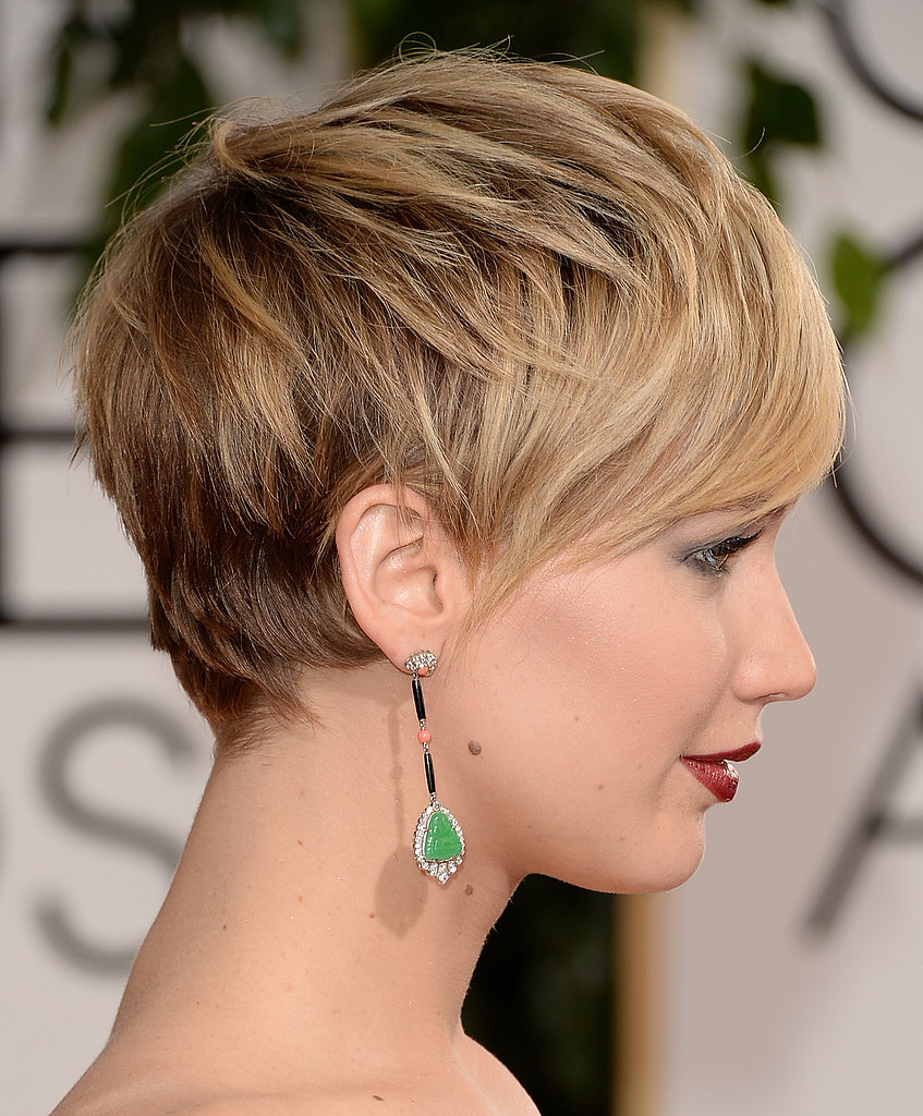 The best part about Jennifer Lawrence's short hair? We got a clear shot of those jewel-d