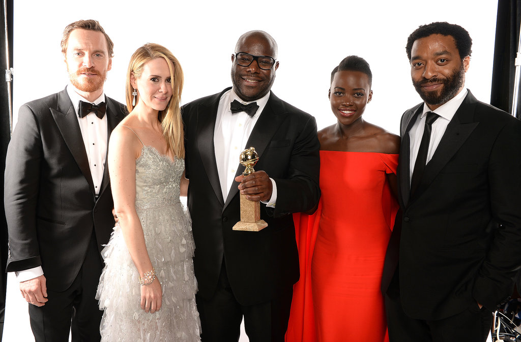 Michael celebrated 12 Years a Slave's big win with director Steve McQueen and costars Sarah Paulson, Lupita Nyong'o, and Chiwetel Ejiofor.