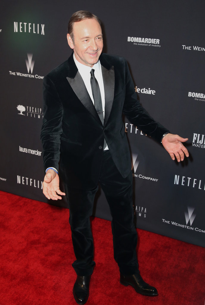 House of Cards's Kevin Spacey got animated on the carpet.