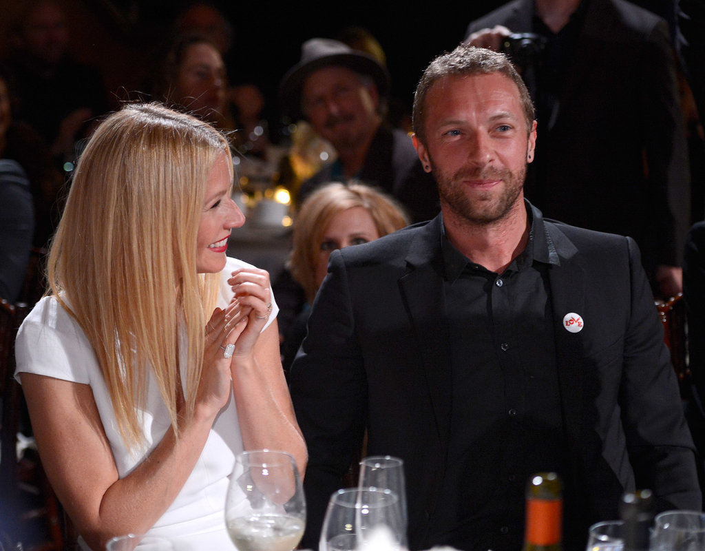 Gwyneth Paltrow clapped for her husband, Chris Martin.
