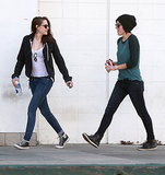 Kristen chatted with a friend.