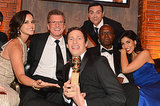 The Brooklyn Nine-Nine cast got silly with their Golden Globe.