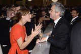 Emma Watson got animated as she talked to Alfonso Cuarón. Source: Larry Busacca/NBC/NBCU Photo Bank/NBC