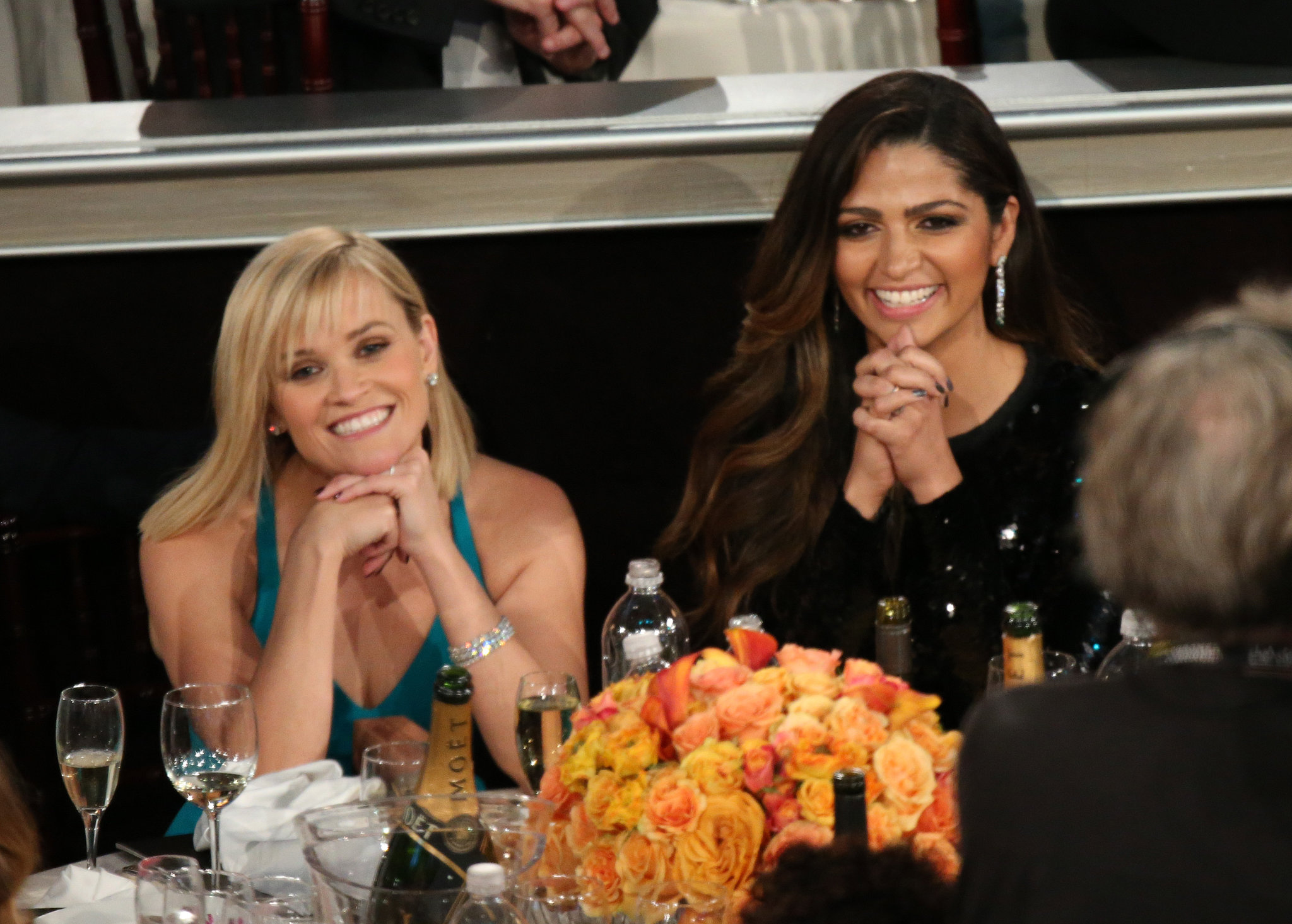 Reese Witherspoon and Camila Alves were basically picture perfect in the Golden Globes audience.