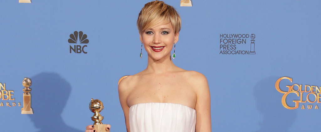 How Jennifer Lawrence Celebrated Her Golden Globe Win