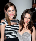 Allison Williams and Emilia Clarke linked up inside.