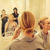 Gwyneth Paltrow chatted on the phone while prepping for the Golden Globes. Source: Facebook user Adir Abergel Fan Page