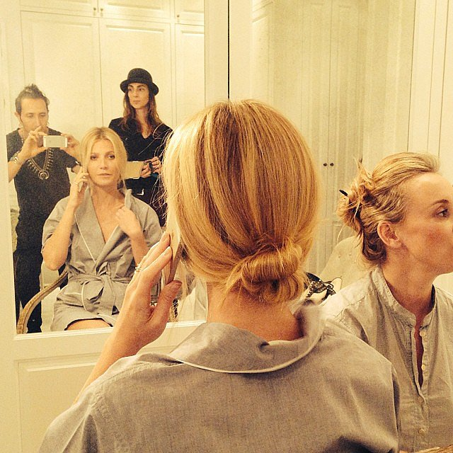 Gwyneth Paltrow got ready for the big show with her hairstylist Adir Abergel. Source: Facebook user Adir Abergel Fan Page