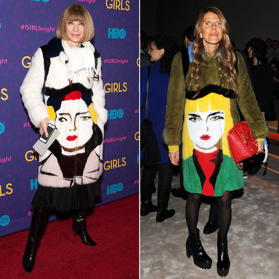 Anna Wintour and Anna Dello Russo Wear Prada Face Coat