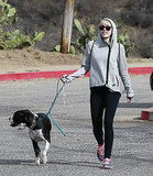 On Sunday, Miley Cyrus walked her dog Mary Jane in Beverly Hills.