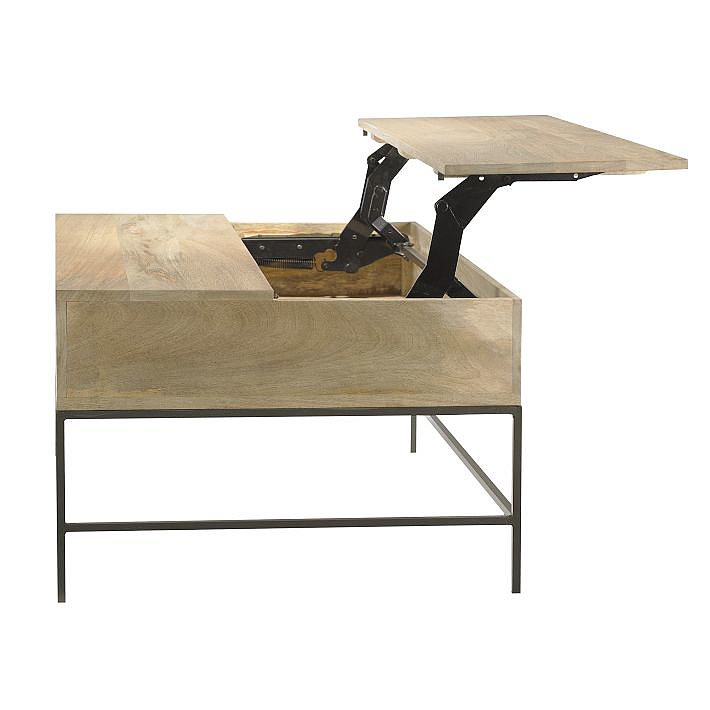 This Rustic Storage Coffee Table ($499-$699) will lend a James Bond feel to your living room.
