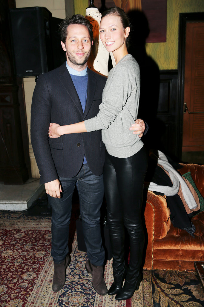 Derek Blasberg and Karlie Kloss at the Vintage Vanguard benefit.