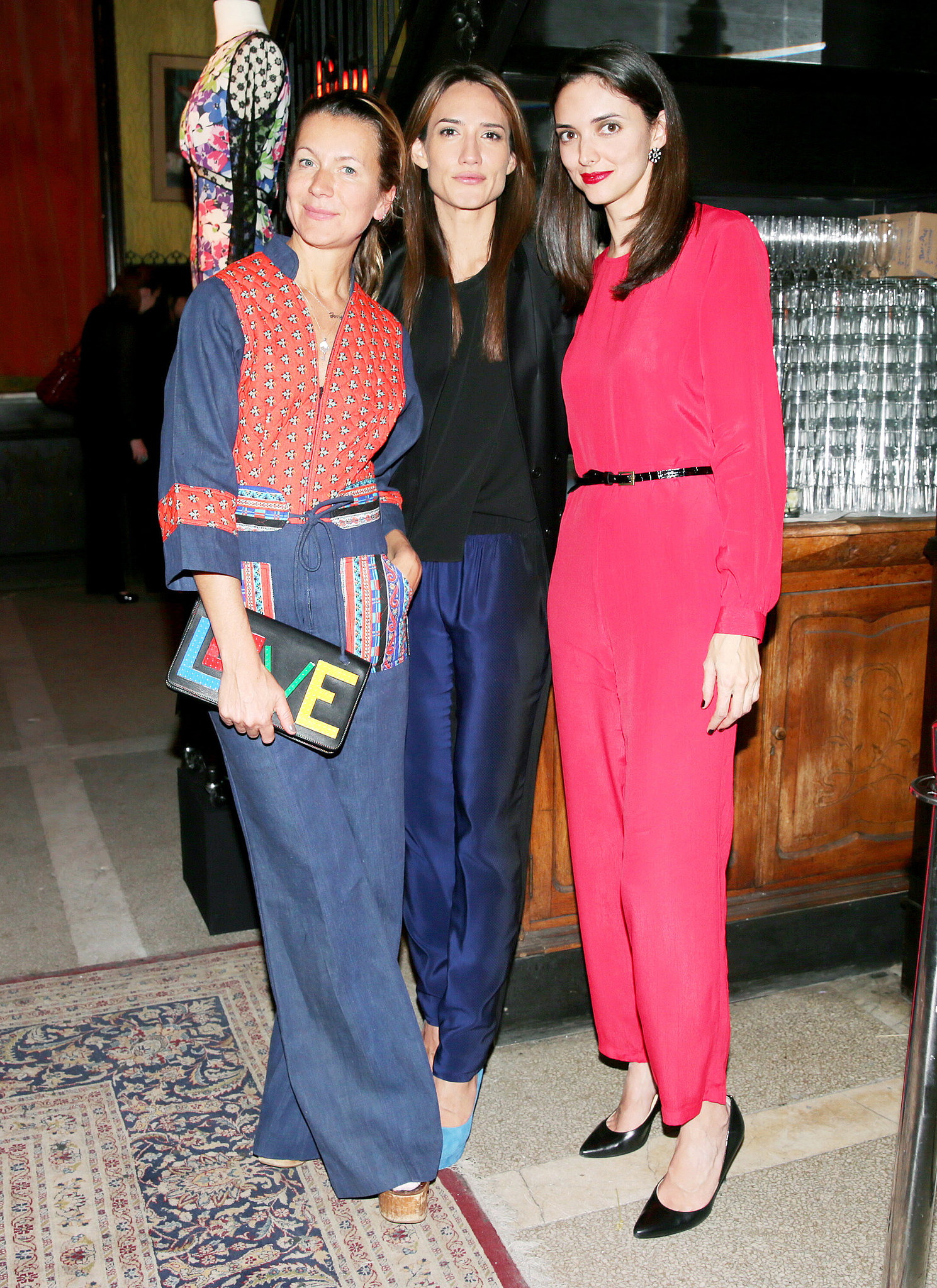 Natalie Joos, Zani Gugelmann, and Eugenia Miranda at the Vintage Vanguard benefit.