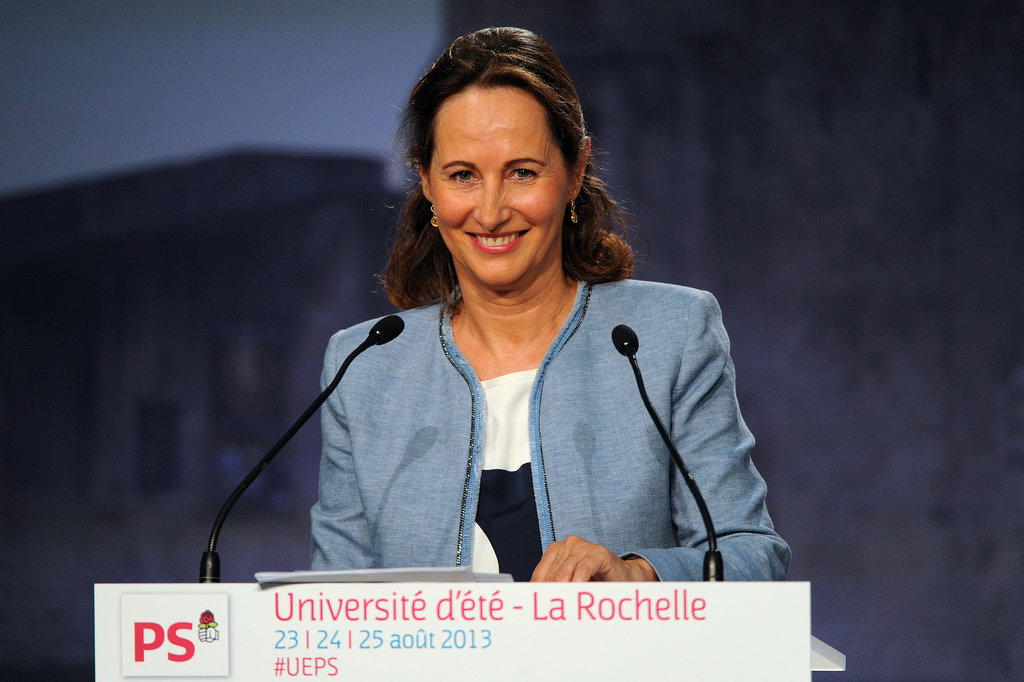 Ségolène Royal, pictured here, ran for president before Hollande and lost to Nicolas Sarkozy. She and Hollande have four children together and were together for 30 years.