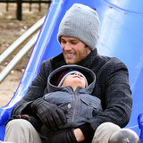 Tom Brady With Benjamin Brady at the Park in Boston