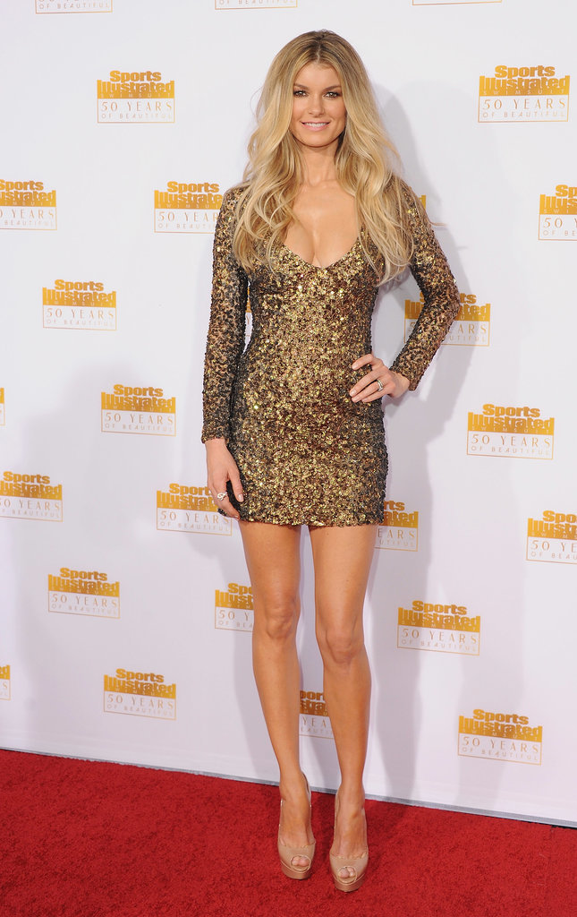 Marisa Miller showed skin in a low-cut dress.