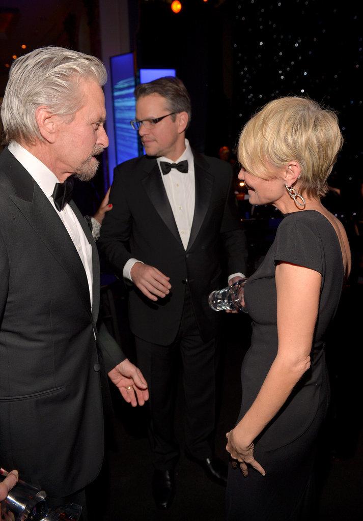 Matt Damon and Michael Douglas chatted with Kristin Chenoweth.