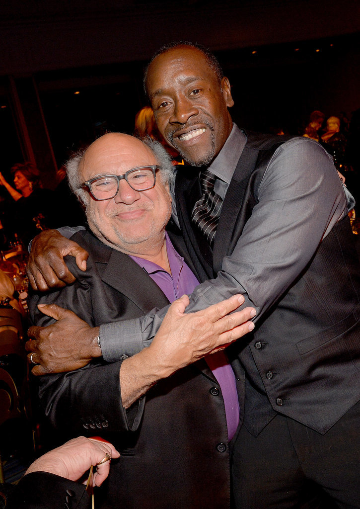 Don Cheadle hugged Danny DeVito.