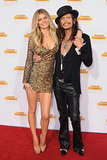 Steven Tyler and Marisa Miller linked up on the red carpet in Hollywood on Tuesday when they attended Sports Illustrated's 50th anniversary party for their swimsuit issue.