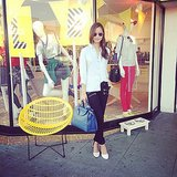 Jamie Chung posed in front of a store while doing some shopping in LA. Source: Instagram user jamiejchung