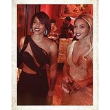 Kelly Rowland and Beyoncé were dressed to the nines for Tina Knowles's 60th birthday party in New Orleans. Source: Instagram user beyonce
