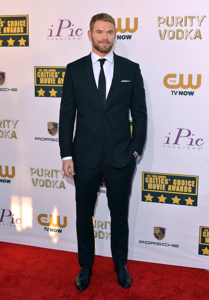 Kellan Lutz cut a dapper figure at the CCAs.