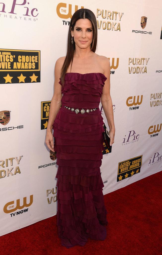 Sandra Bullock was a vision in purple at the Critics' Choice Awards.