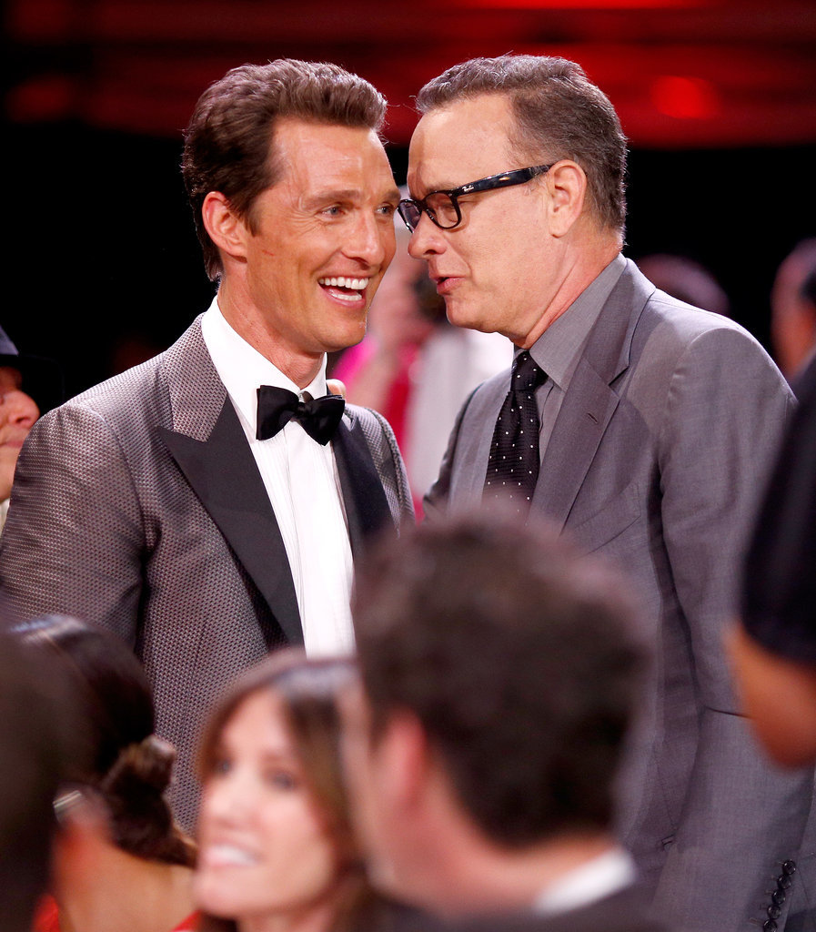Tom Hanks made Matthew McConaughey laugh.
