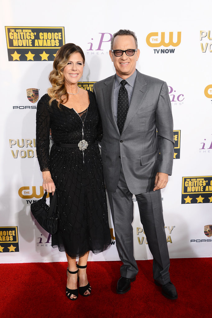 Tom Hanks and his wife, Rita Wilson, hit the red carpet at the Critics' Choice Awards.