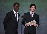 Ian presented an award with Isaiah Washington.