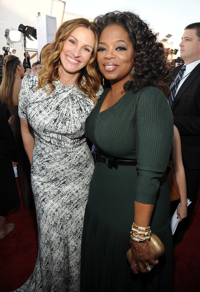 Julia also met up with her buddy Oprah Winfrey.