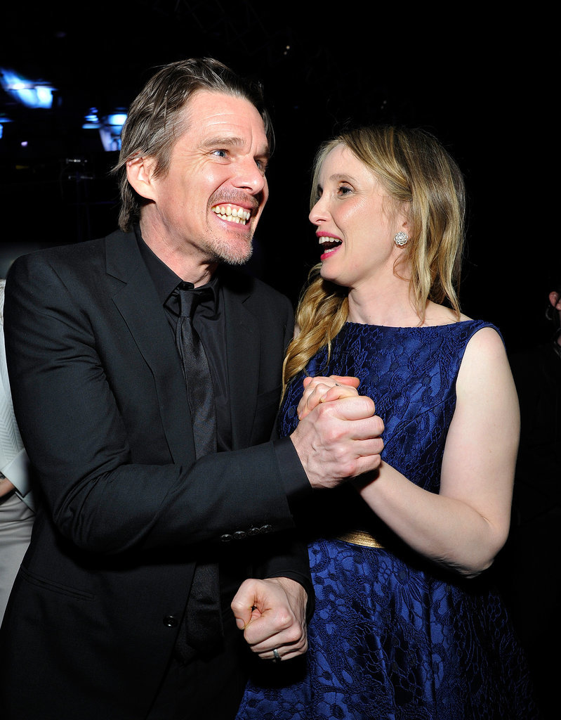 Before Midnight's Ethan Hawke and Julie Delpy shared a moment.