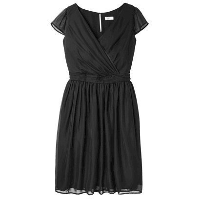 TEVOLIO™  Women's Chiffon Cap Sleeve V-Neck Dress