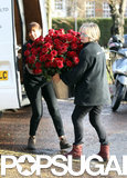 A bucket of flowers was delivered to Kate's home on her birthday.