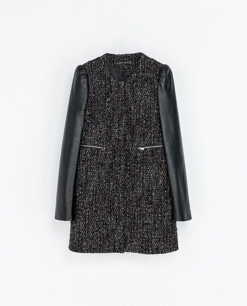Zara Coat With Leather Sleeves ($100, originally $239)