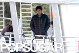 Adrian Grenier was on a boat for the Entourage film.