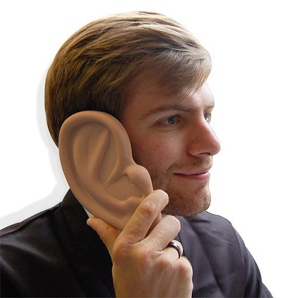 """Let me get your number. Wait hold on, let me get out my giant ear-shaped case ($4) first."""
